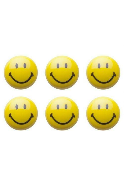Komplet magnetov Smiley (6-delni, premer: 3 cm)