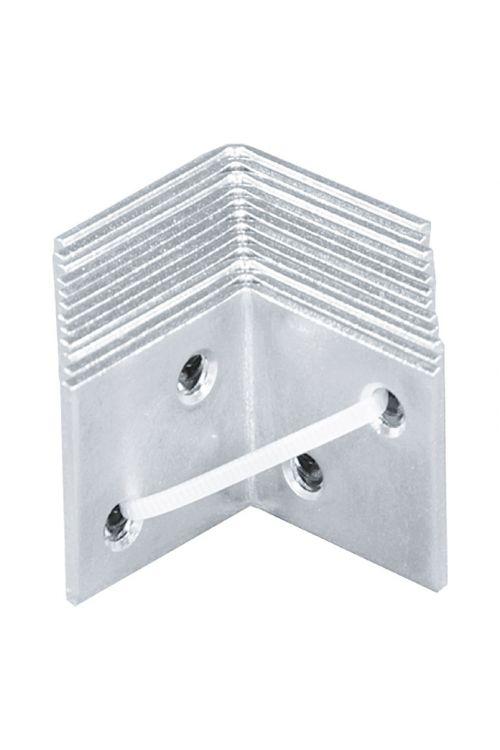 Širok kotnik Stabilit (40 x 40 mm, 12 kosov, jeklo, srebrn)