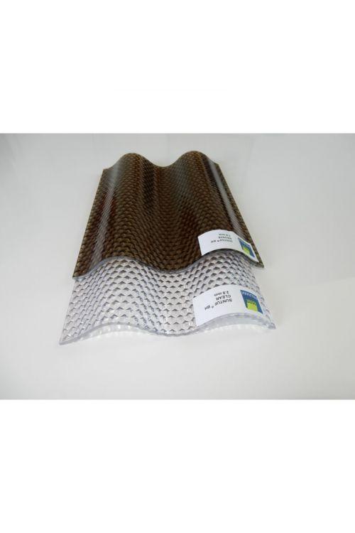 Valovite polikarbonatne plošče (105 x 200 cm, bron)
