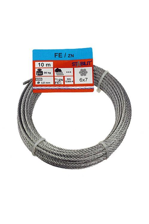 Žična vrv Stabilit (obremenljivost: 90 kg, 3 mm x 10 m, pocinkana)