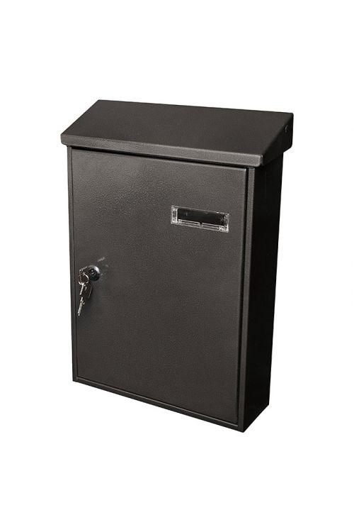 Poštni nabiralnik Portaferm PF 33 (9,2 x 27 x 37 cm, kovinski, črne barve)