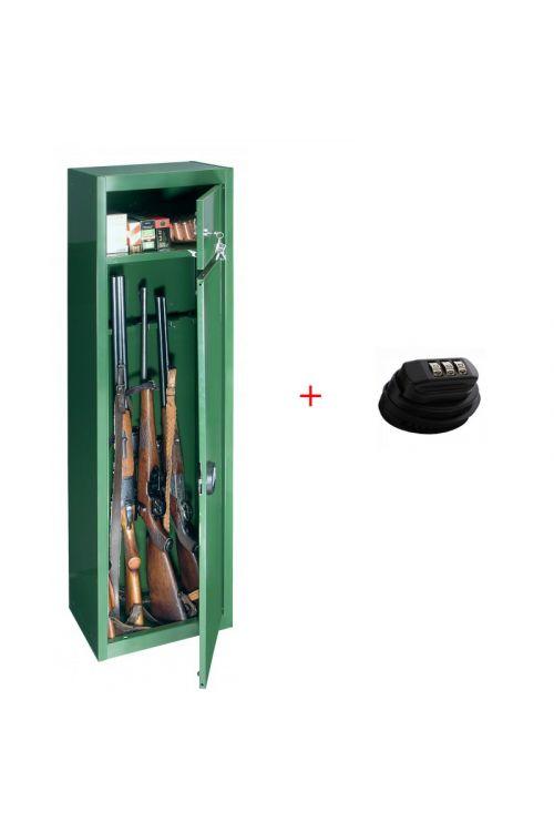 Set omara za orožje GUN in ključavnica za pištolo GUNCONTROL T06092 (v 150 x š 37 x g 26,5 cm, za 5 pušk)
