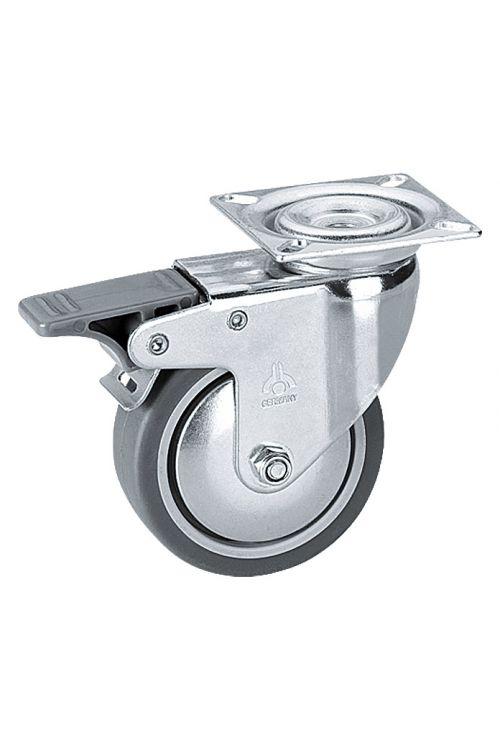 Vrtljivo kolo Stabilit (premer kolesca: 75 mm, nosilnost: 50 kg, drsni ležaj, s ploščo in fiksacijo)