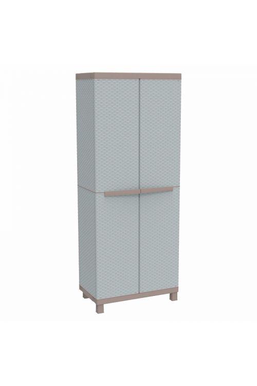 Plastična omara Terry Ratan (v 170 x š 68 x g 39 cm, nosilnost: 20 kg/polico)