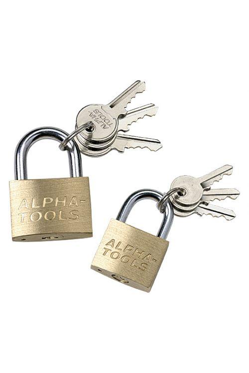 Komplet ključavnic obešank Alpha Tools (2 kosa, jeklo)