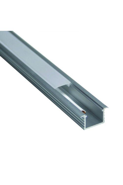 ALU PROFIL ZA LED TRAK (2 m, vgradni, mat, dimenzije 22 x 11 mm)