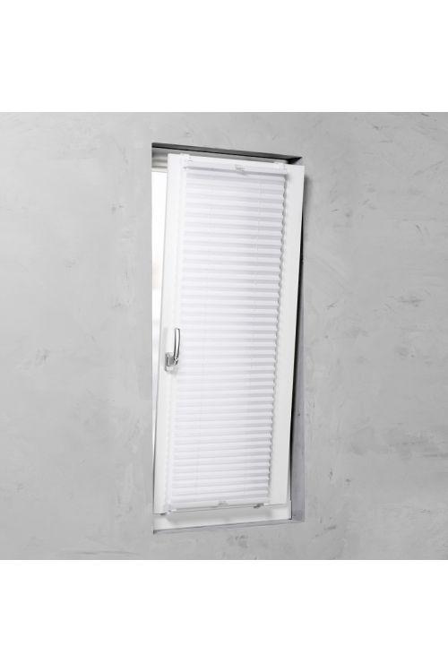 Plise senčilo za okna Basic (130 x 60 cm, belo)