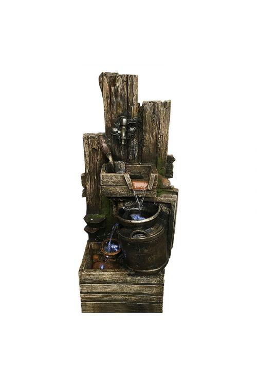 Stoječi vodnjak Silex Chiemgau (48 x 37 x 100 cm, z LED osvetljavo, iz polirezina)