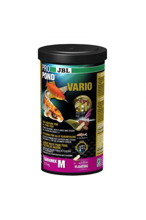 Hrana za ribe v ribnikih JBL Propond Vario M (1 l, v lističih)