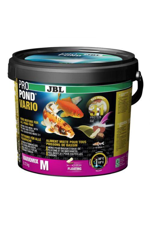 Hrana za ribe v ribnikih JBL Propond Vario M (5,5 l, v lističih)