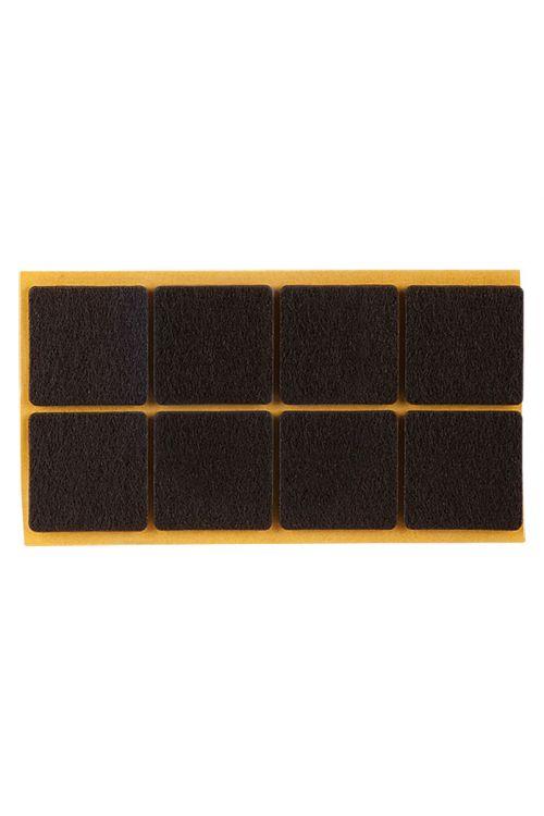 Podloge iz klobučevine Stabilit (32 x 32 mm, 24 kosov, rjave, samolepilne)
