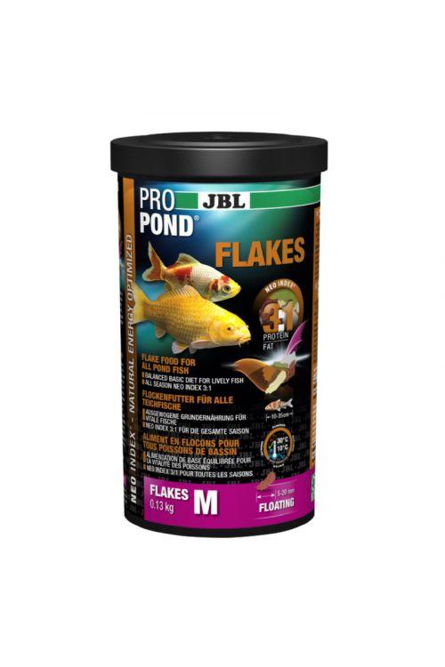 Hrana za ribe v ribnikih JBL Propond Flakes M (1 l, v lističih)
