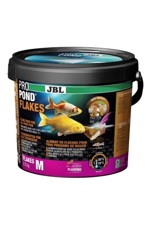 Hrana za ribe v ribnikih JBL Propond Flakes M (5,5 l, v lističih)