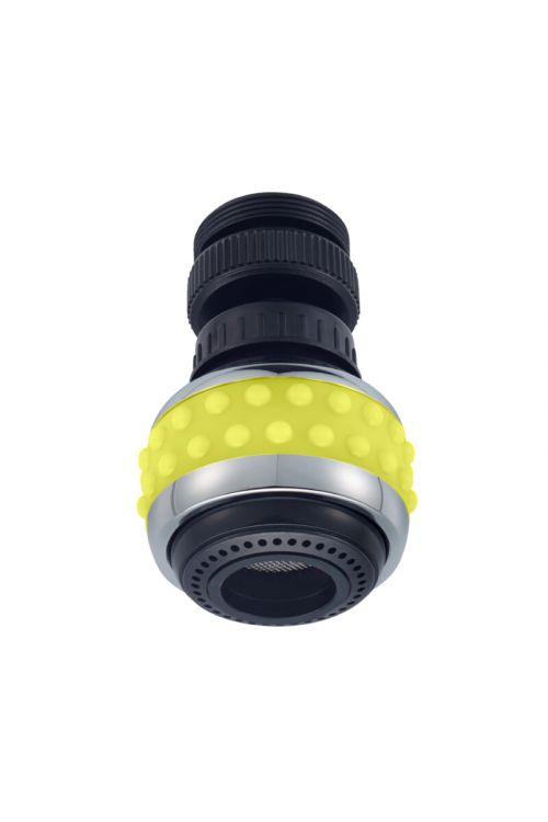 Zglobni perlator - kuhinjska prha Bubble Stream (M22x1/M24x1, rumen)