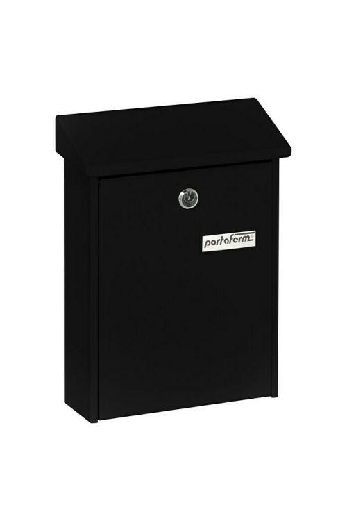 Poštni nabiralnik Portaferm PM 22 (7,5 x 22,5 x 30,5 cm, kovinski, črne barve)
