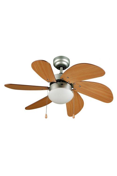 Stropni ventilator Texas Wood (50 W, Ø 81 cm, višina 42,9 cm, osvetlitev 1 x 60 W)