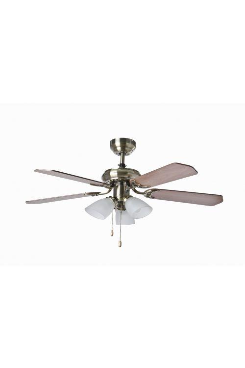 Stropni ventilator Darling Wood (50 W, Ø 105 cm, višina 49,5 cm, osvetlitev 3 x 60 W)