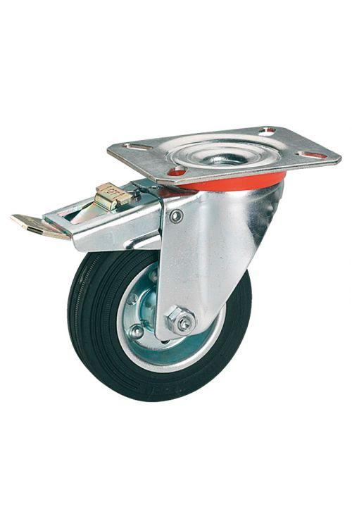 Vrtljivo kolo Stabilit (premer kolesca: 125 mm, nosilnost: 100 kg, valjčni ležaj, s ploščo in fiksacijo)