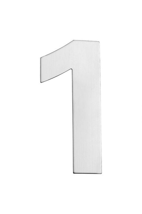 Hišna številka 1 Portaferm (višina: 15 cm, legirano jeklo, motiv: 1)