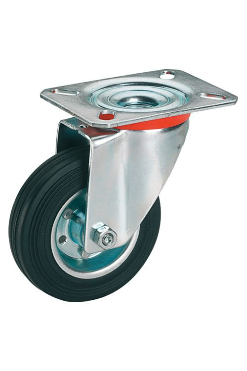 Vrtljivo kolo Stabilit (premer kolesca: 80 mm, nosilnost: 50 kg, valjčni ležaj, s ploščo)