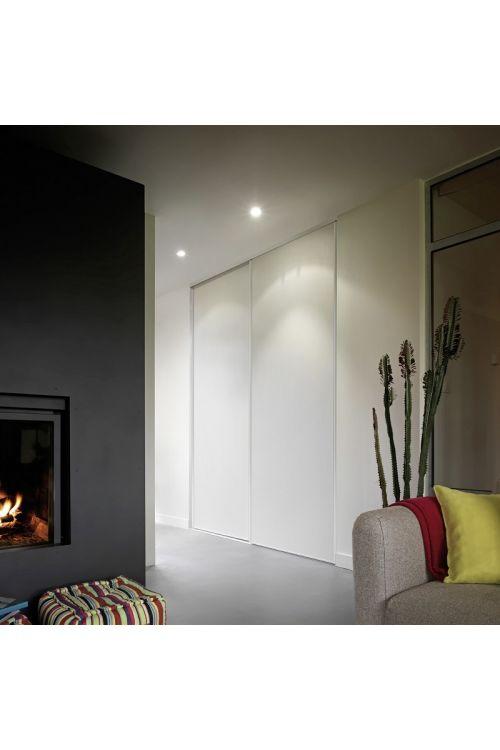 Drsna vrata Optimum (set, pocinkan profil, bela plošča 2500 x 800 mm)