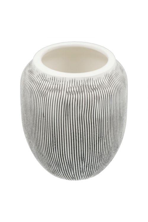 Lonček Camargue Cono (sivo-bel, keramični)