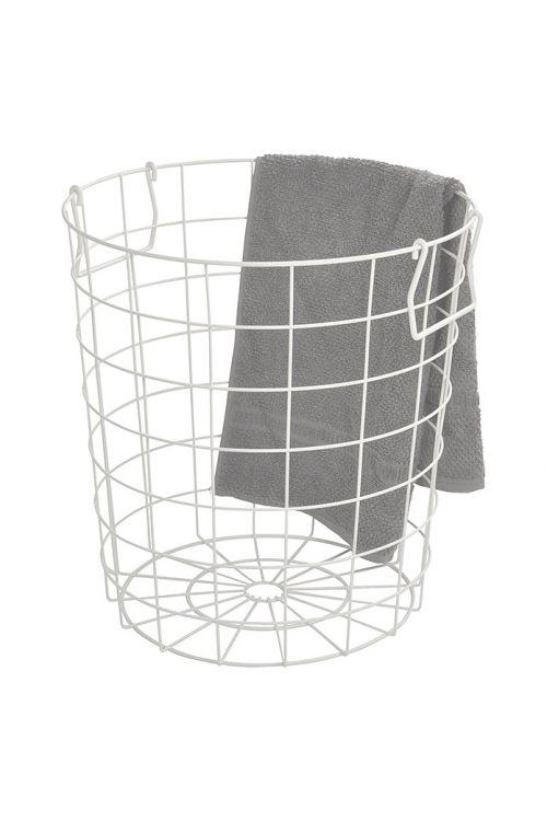 Košara za shranjevanje Camargue Taha (38 x 40 cm, bela, kovinska)