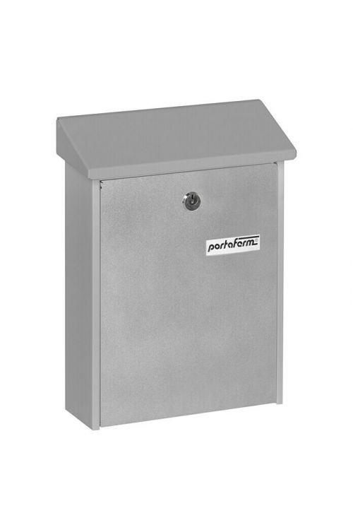 Poštni nabiralnik Portaferm PM 22 (7,5 x 22,5 x 30,5 cm, kovinski, srebrne barve)