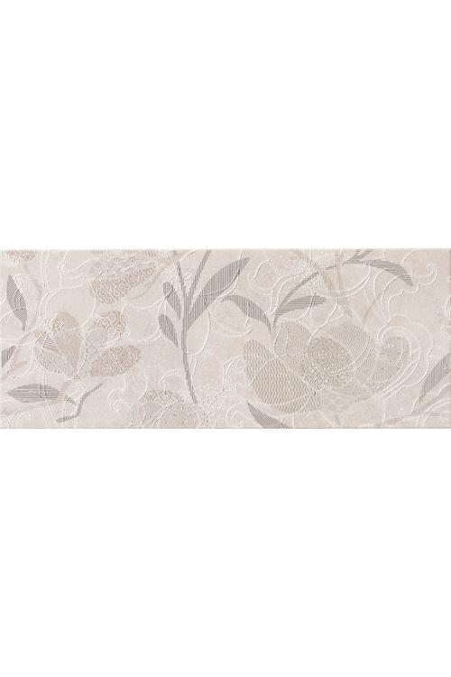 Stenska ploščica Unica (20 x 50 cm, bela, dekor Fly A, sijaj)
