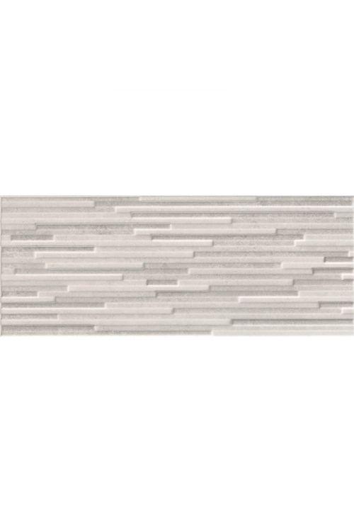 Stenska ploščica Unica (20 x 50 cm, bela, dekor mozaik, sijaj)