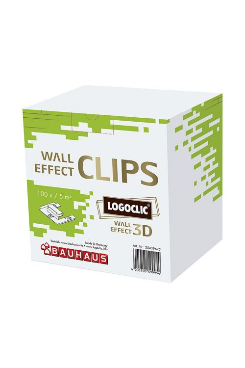 Nosilci za stenske 3D plošče LOGOCLIC (100 kosov, aluminij)