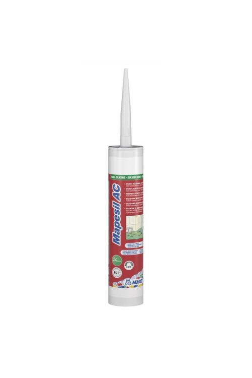 Silikonska sanitarna tesnilna masa Mapesil AC 115 (kartuša 310 ml)