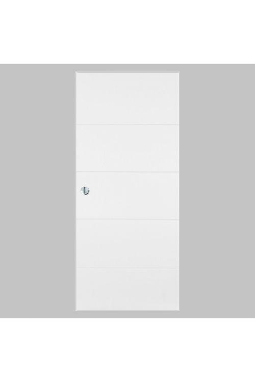 Drsna vrata Masonite Quatro (2000 x 848 mm, bela, z ročajem)