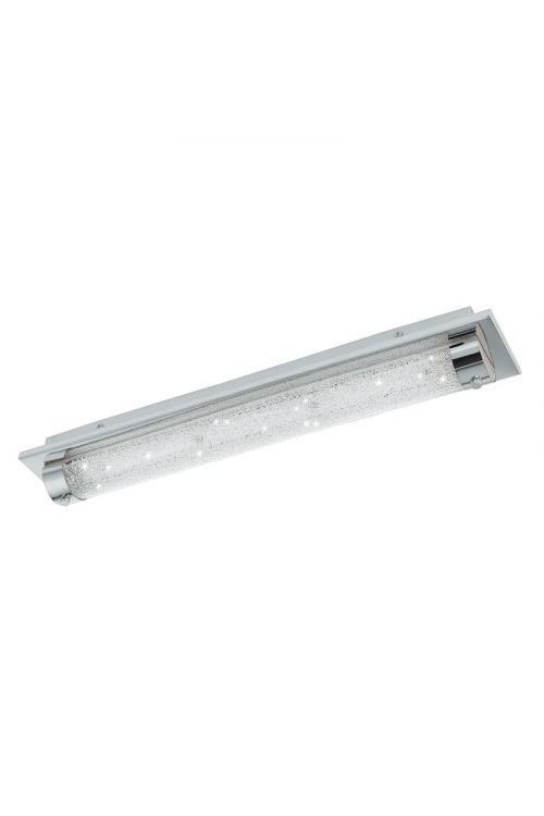LED STENSKA SVETILKA TOLORICO (19 W, 2.500 lm, 4.000 K, IP44, d 57 x š 10 x v 7,5 cm, krom, kristal)