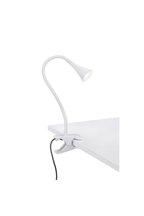 LED namizna svetilka s sponko Reality Leuchten Viper (3 W, višina 35 cm, 260 lm, topla bela svetloba, bela)