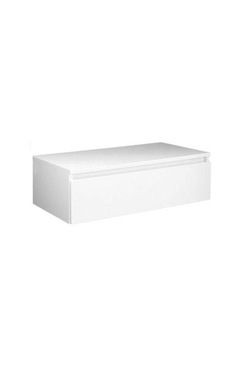 Spodnja podumivalniška omarica Elegant (80 cm, bela, sijaj)