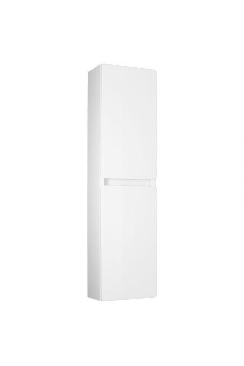 Visoka stranska omarica Elegant (25 cm, bela, sijaj)