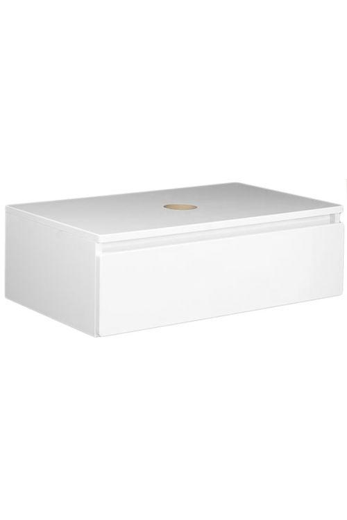 Zgornja podumivalniška omarica Elegant (80 cm, bela, sijaj)