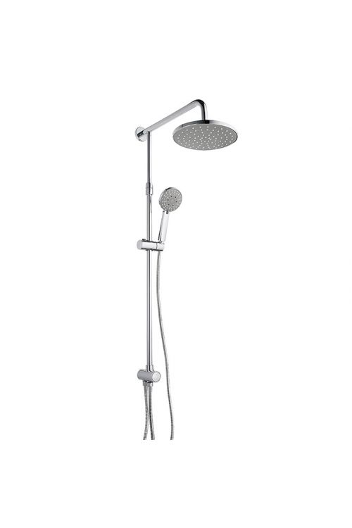 Pršni set z nadglavno prho Mixomat Spitter (krom-bela, sijaj, Ø 10 cm, brez armature)