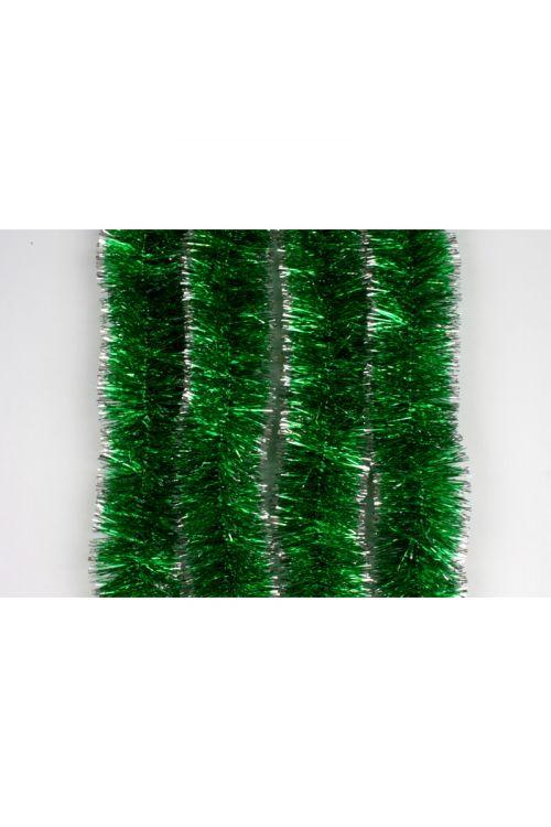 Zeleno-srebrna girlanda (2m, premer: 7 cm)