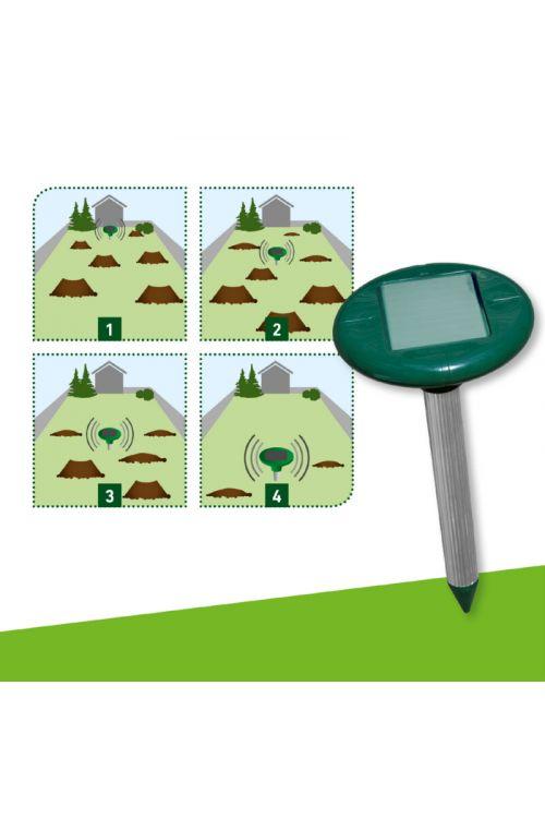 Solarni odganjalec voluharjev in krtov Windhager (območje delovanja: 750 m²)