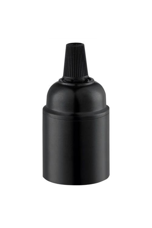 Okov za žarnico E27 (črn)