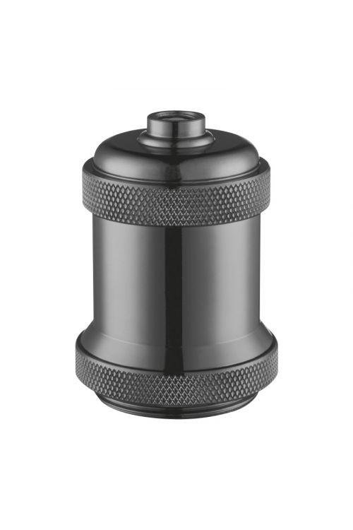 Okov za žarnice E27 (metalik črna)