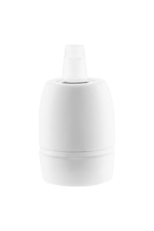 Okov za žarnico E27 (bel, porcelan)