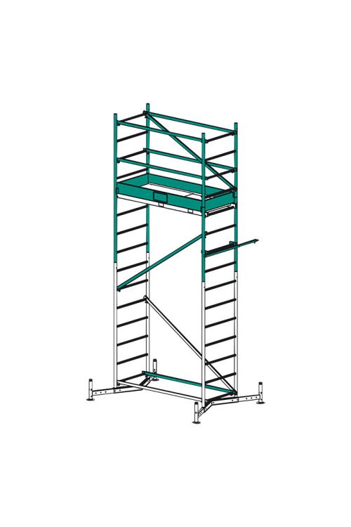 Prva nadgradnja delovnega odra KRAUSE ClimTec (delovna višina: 5 m, nosilnost: 180 kg, površina odra: 0,9 m²)