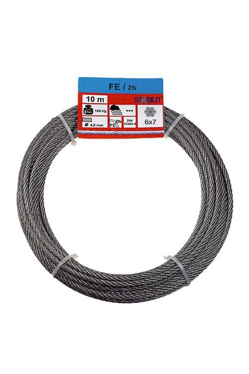 Žična vrv Stabilit (obremenljivost: 160 kg, 4 mm x 10 m, pocinkana)
