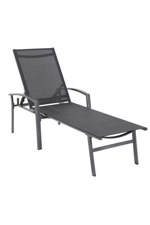 Ležalnik Sunfun Maja (d 100 x š 161 x v 68 cm, tekstil, aluminijasto ogrodje, črne barve)
