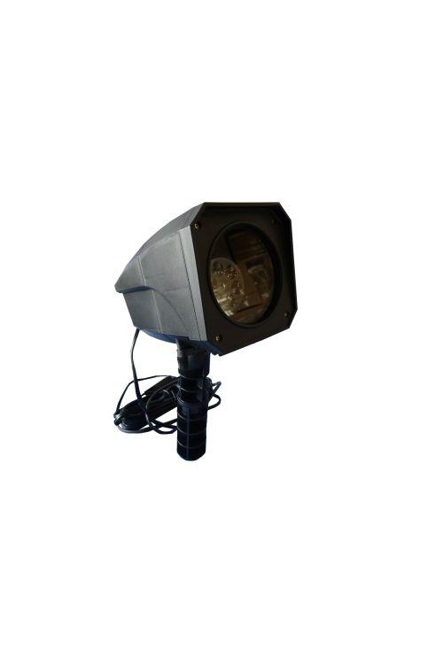 Zunanji dekorativni LED projektor (12 W, 12 slikovnih vzorcev)