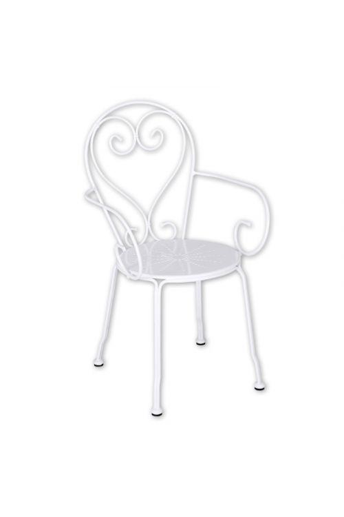 Vrtni stol Sunfun Eros (52 x 54 x 87 cm, jeklo, bela)