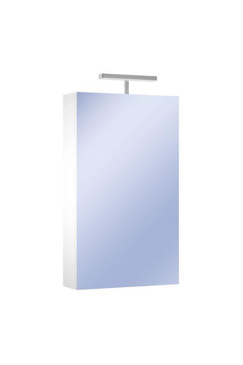 Omarica z ogledalom Corallo (50 x 85 x 16 cm, bela, sijaj, LED)